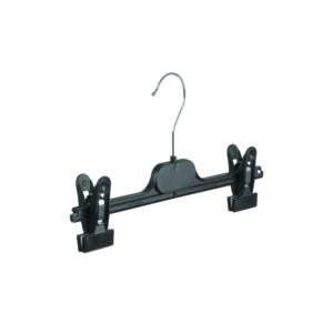 Small Plastic Clip Hanger for Trousers and Skirts, Black, 30cm