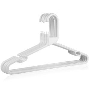 Strong White Plastic Hanger, Heavy-Duty Multi-Purpose Coat Hanger, 41cm