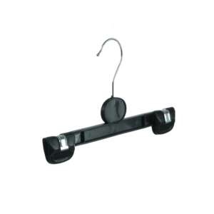 Traditional Cheap Grab Hanger for Trousers and Skirts, Black Plastic, 25cm
