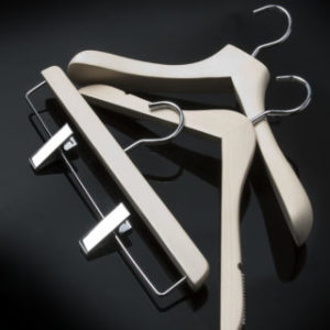 Luxury White Wood Coat Hangers
