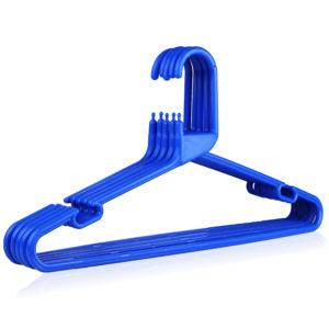 Strong Blue Plastic Hanger, Heavy-Duty Multi-Purpose Coat Hanger, 41cm
