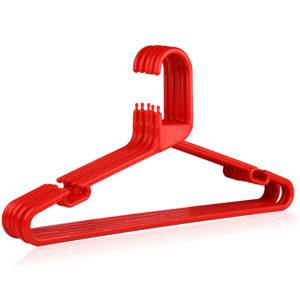 Strong Red Plastic Hanger, Heavy-Duty Multi-Purpose Coat Hanger, 41cm